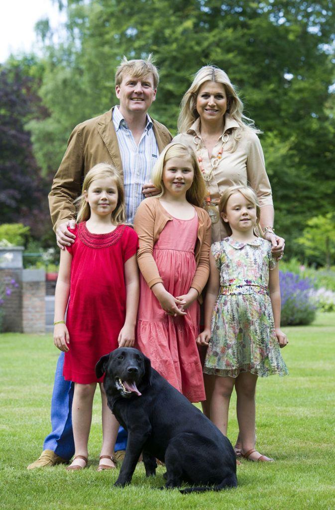 Drei Meisje Haus In Den Niederlanden König Willem Alexander Und