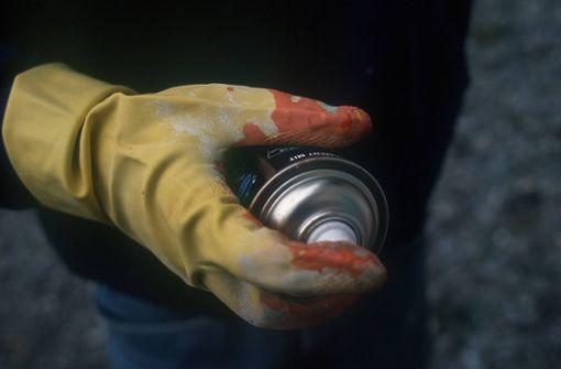 Zwei Graffiti-Sprayer auf frischer Tat ertappt