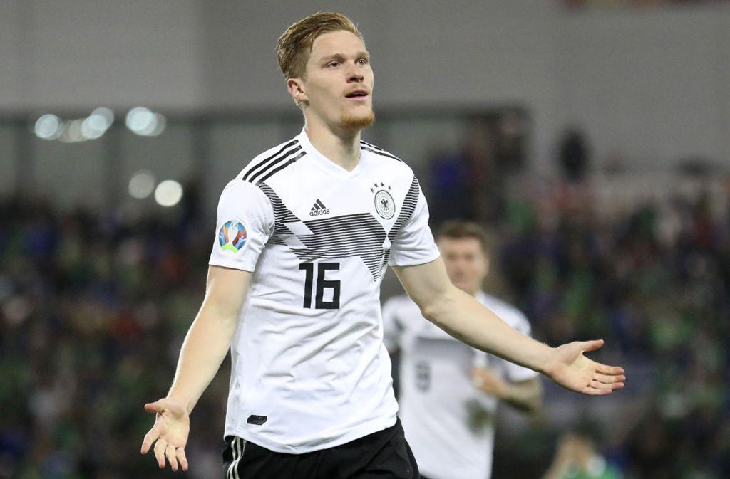Marcel Halstenberg erzielte das 1:0 für das deutsche Team in Nordirland. Foto: AP