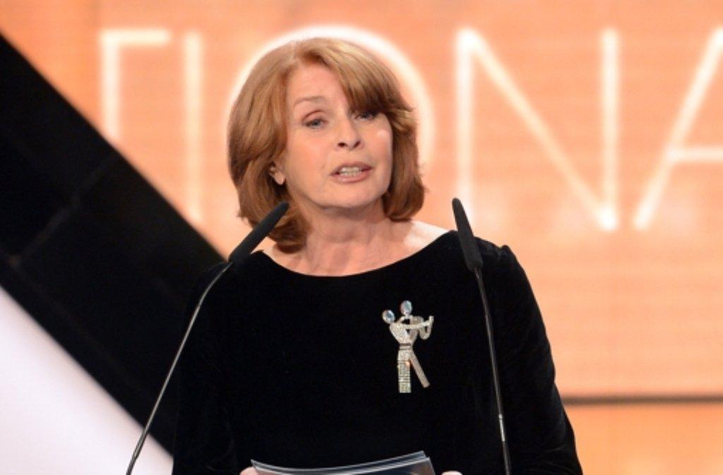 Senta Berger am 1. Februar 2014 in Berlin bei der Verleihung der 49. Goldenen Kamera. Foto: dpa