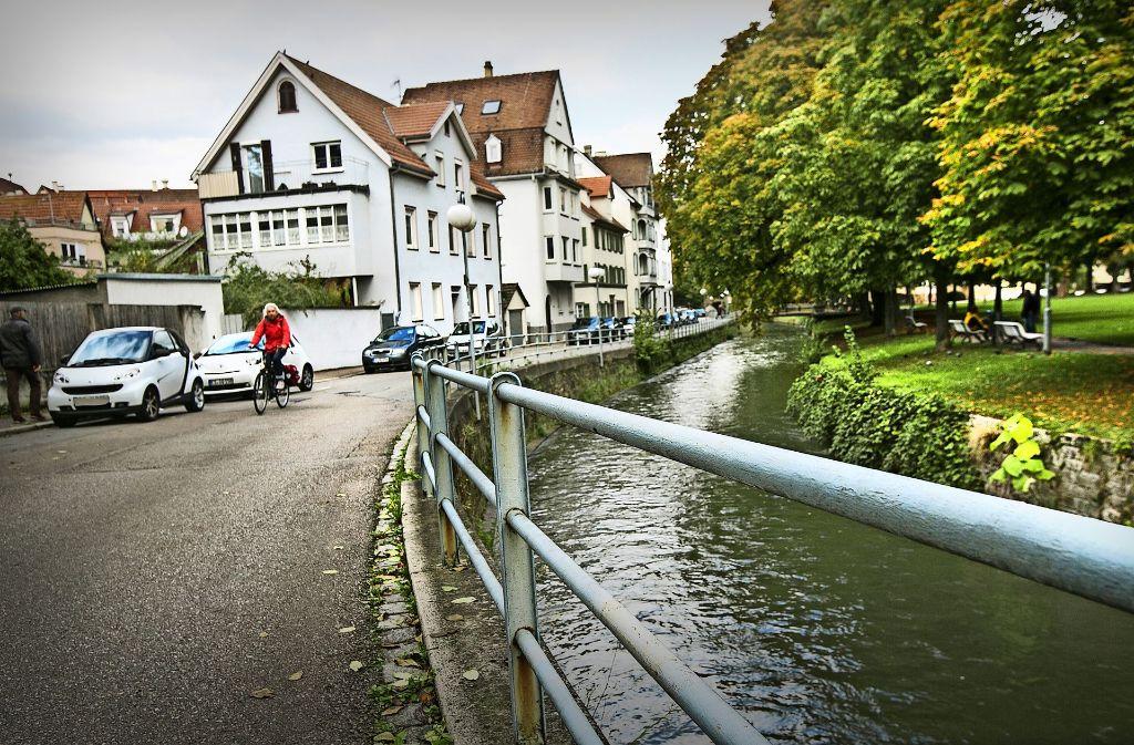 Die Wehrneckarstraße wird Teil der neuen Radachse durch die Stadt Esslingen. Foto: Ines Rudel