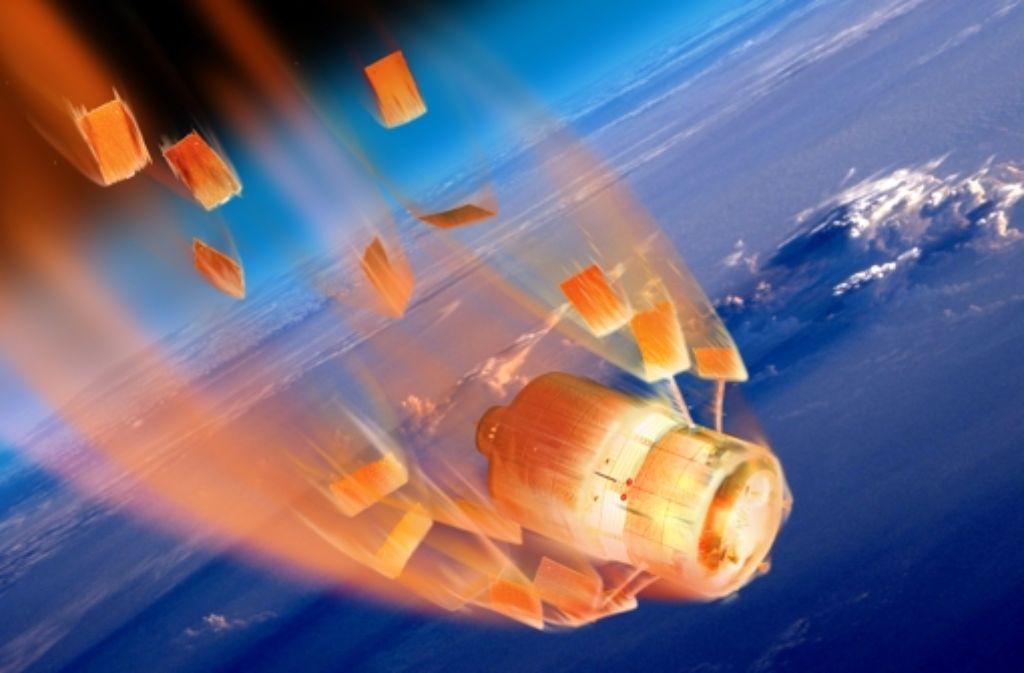 Viele Raumtransporter sind nicht für eine Rückkehr zur Erde vorgesehen. Dazu zählen das europäische Automated Transfer Vehicle (ATV, im Bild) und auch der russische Frachter Progress. Foto: Esa/D. Ducros