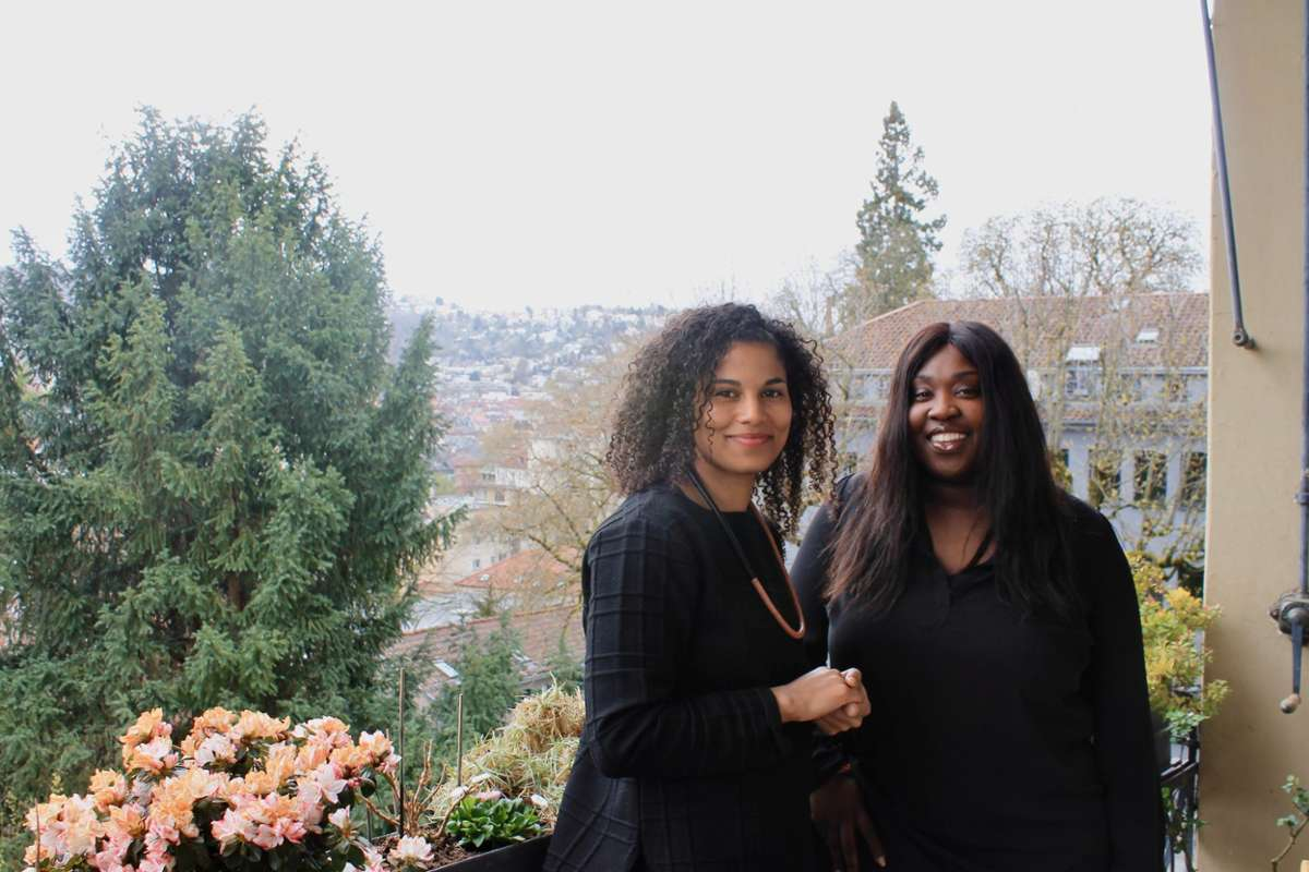 Nathalie und Leethicia sind Mitbegründerinnen der Bücherbörse Stuttgart. Quelle: Unbekannt