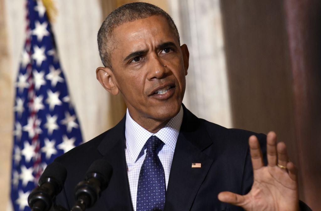 US-Präsident Obama kritisiert Donald Trump, der sein Nachfolger werden will, scharf. Foto: AP