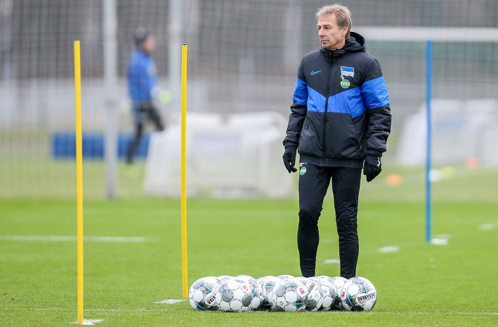 Hat hohe Ziele mit der Hertha: Trainer Jürgen Klinsmann. Foto: dpa/Andreas Gora