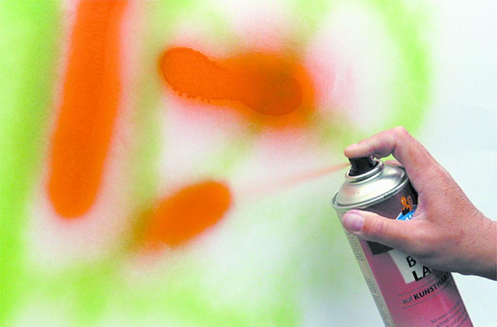 Unbekannte Sprayer haben in der Ludwigsburger Weststadt einen Seat verschandelt. Foto: Archiv/Georg Friedel