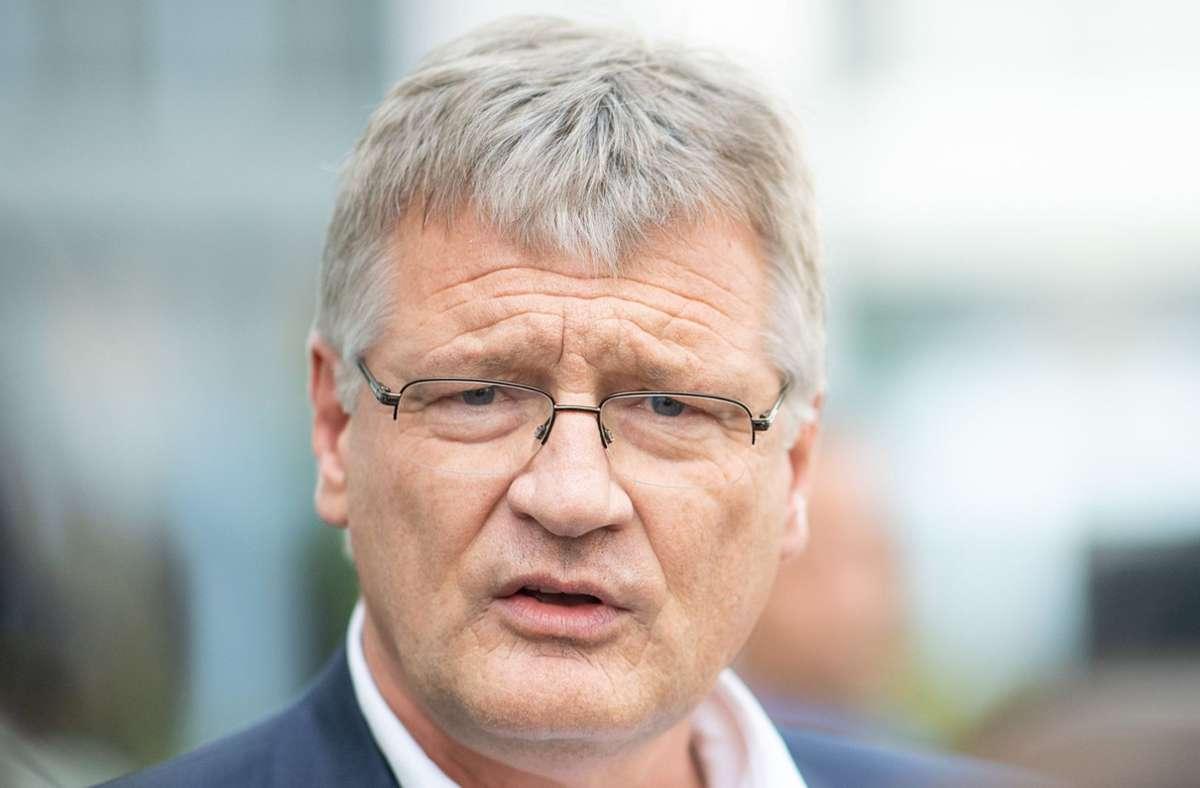 Jörg Meuthen (AfD) ist nicht glücklich über das Ergebnis der Landtagswahl in Sachsen-Anhalt. (Archivbild) Foto: dpa/Sebastian Gollnow