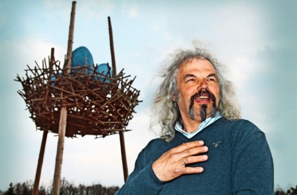 Im Vogelnest  von Mathias Schweikle  liegen drei blaue Eier. Wer war`s? Foto: factum/Granville