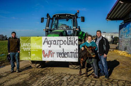 Landwirte gehen in Stuttgart auf die Straße