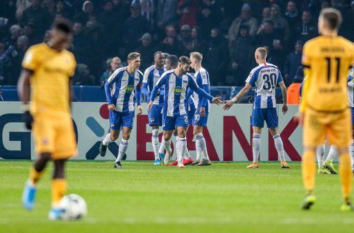 Dynamo Dresden verliert im Elfmeterschießen gegen Hertha