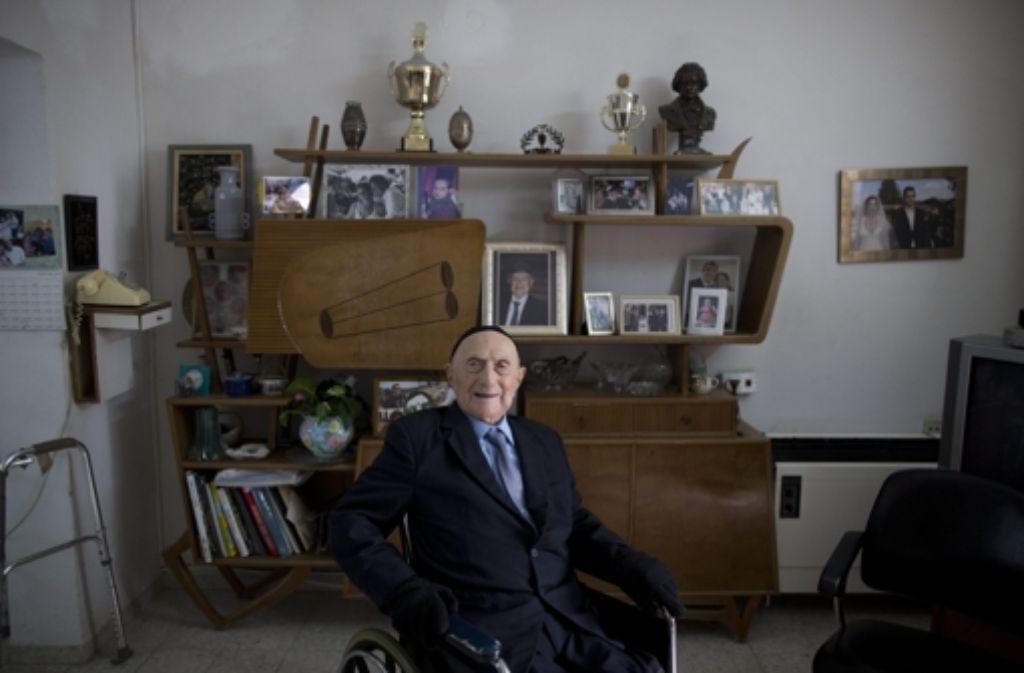 Yisrael Kristal aus Haifa  ist 112 Jahre alt. Foto: