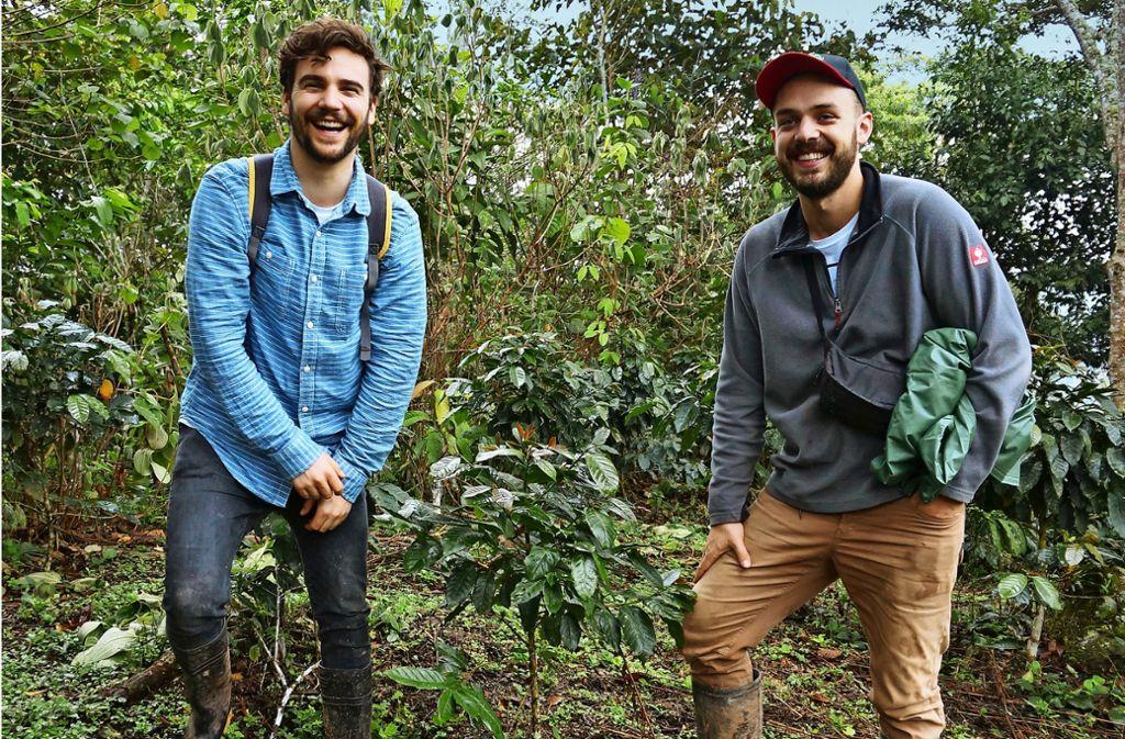 Daniel Kraus (links) und Lukas Harbig in Peru. Foto: Cumpa GmbH