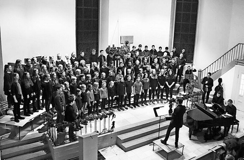 Der Erwachsenen-Chor soll die bestehenden Angebote ergänzen. Nach derzeitigem Stand werden am 19. Juli mehr als 150 Schüler, Lehrer und Eltern auf der Bühne stehen. Foto: privat