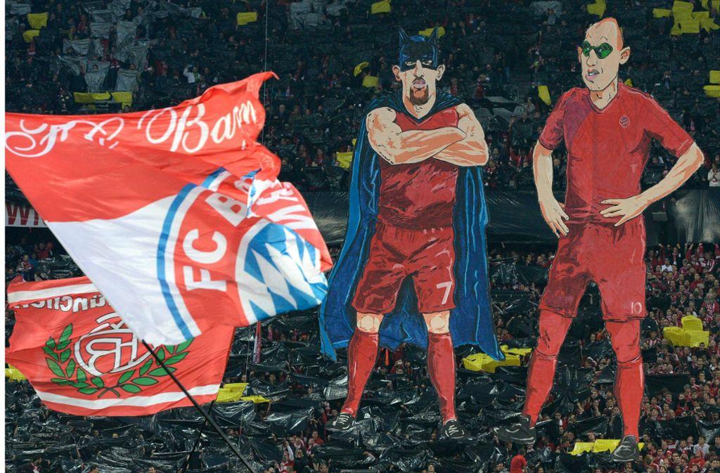 Zwei Lieblinge der Fans gehen: München verabschiedet Franck Ribery und Arjen Robben Foto: AFP