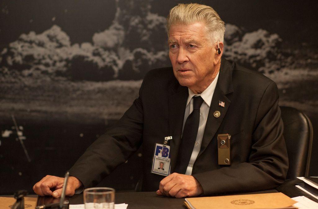 """David Lynch als FBI Deputy Director  Gordon Cole in der dritten Staffel seiner Serie """"Twin Peaks"""" Foto: Suzanne Tenner/Showtime"""