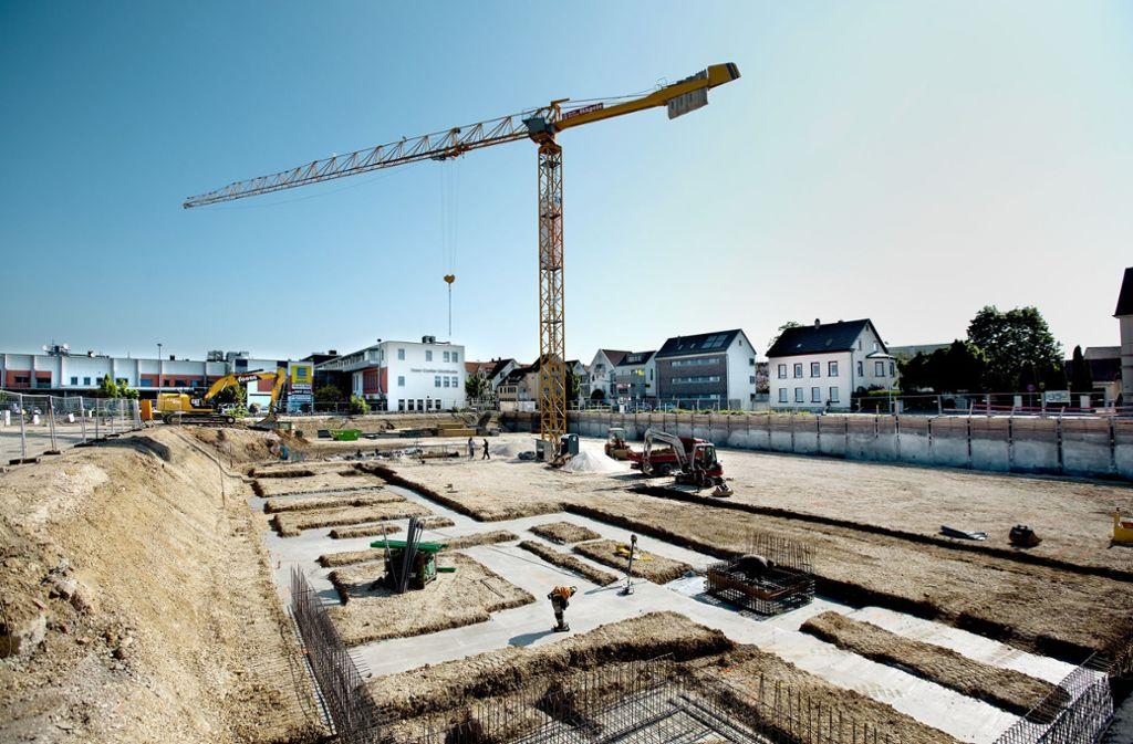 Im Steingau-Quartier ist der Startschuss zur Bebauung schon gefallen. Foto: Horst Rudel Foto: