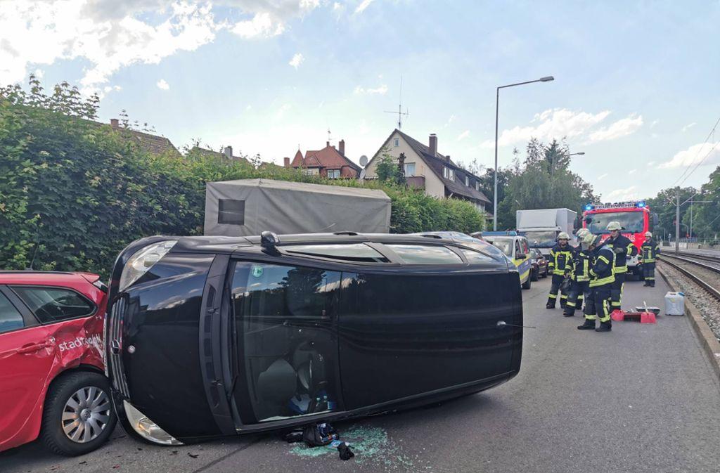 Schwerer Unfall in Stuttgart-Münster Foto: 7aktuell.de/Frank Herlinger