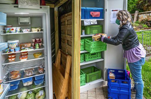 Ein Kühlschrank für gerettete Lebensmittel