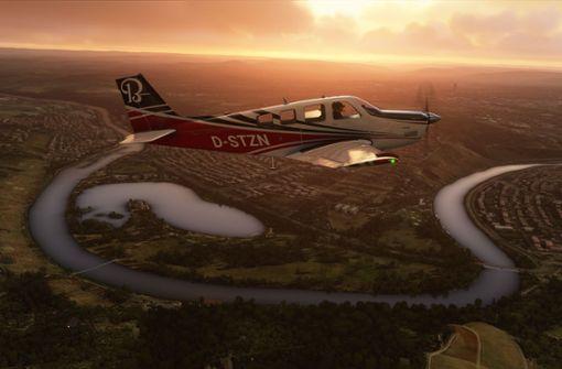 So sehen Stuttgart und Umgebung im neuen Flugsimulator aus
