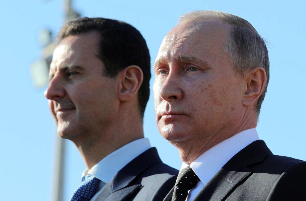 Putin (rechts) und Assad profitieren von der Untätigkeit des Westens. Foto: dpa