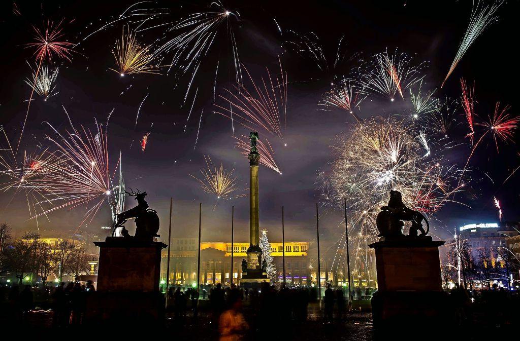 So sah es beim  vergangenen Jahreswechsel auf dem Schlossplatz aus. Foto: Lichtgut/Max Kovalenko