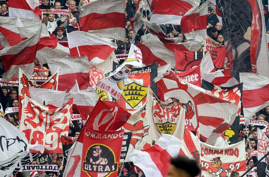 Der VfB Stuttgart kann wohl auch in Liga zwei wieder auf die zahlreiche Unterstützung seiner Fans bauen. Foto: Baumann