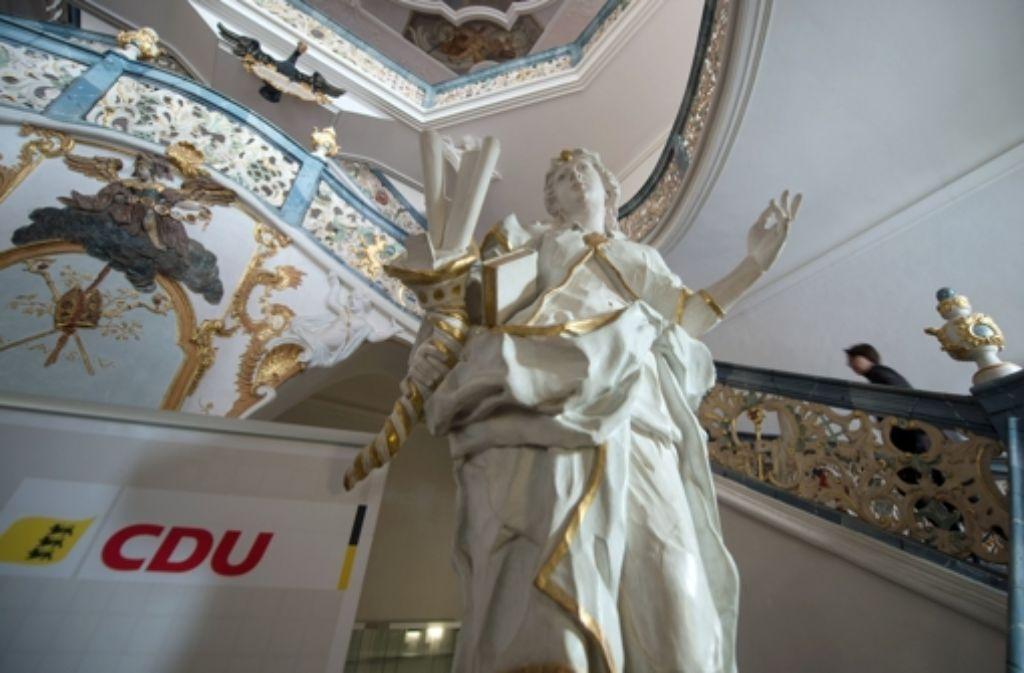 Streit um den Kurs in der Flüchtlingspolitik  vor barocker Kulisse: Klausur der Landes-CDU in Kloster Schöntal. Foto: dpa