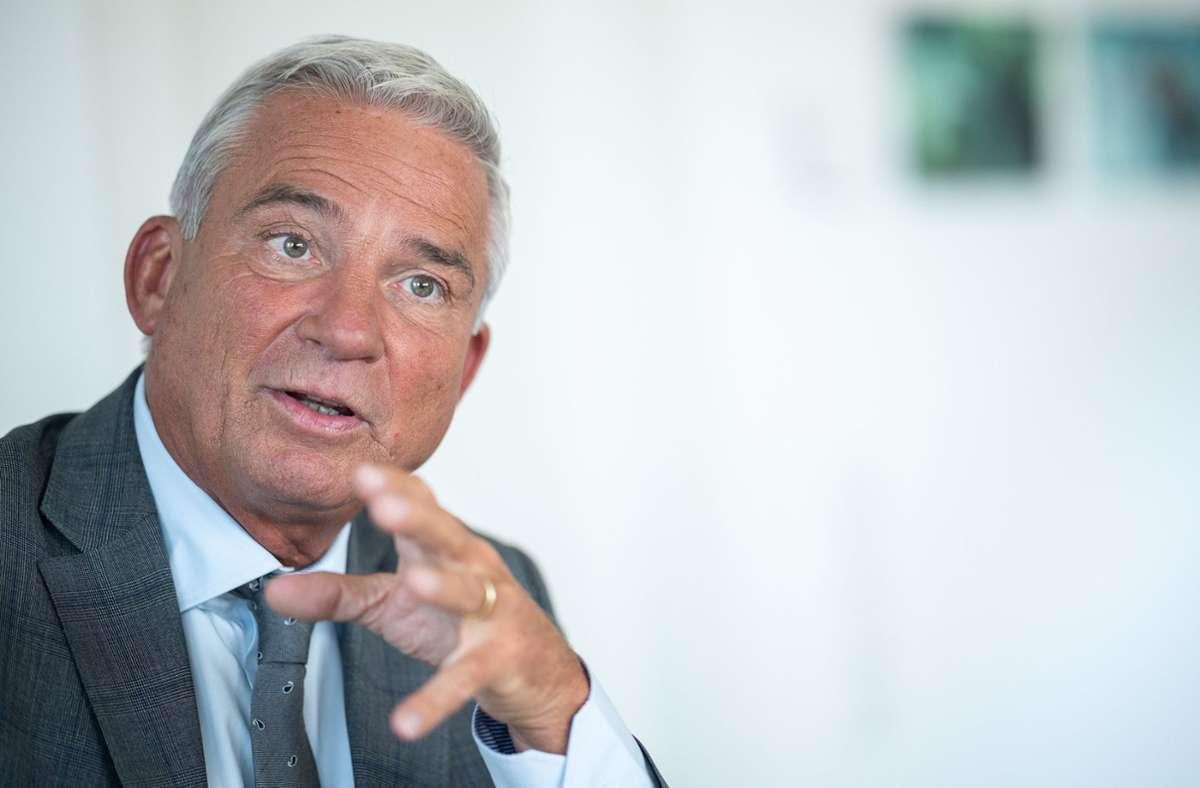 Landesinnenminister Thomas Strobl ist unter anderem als Gast geladen. Foto: dpa/Sebastian Gollnow