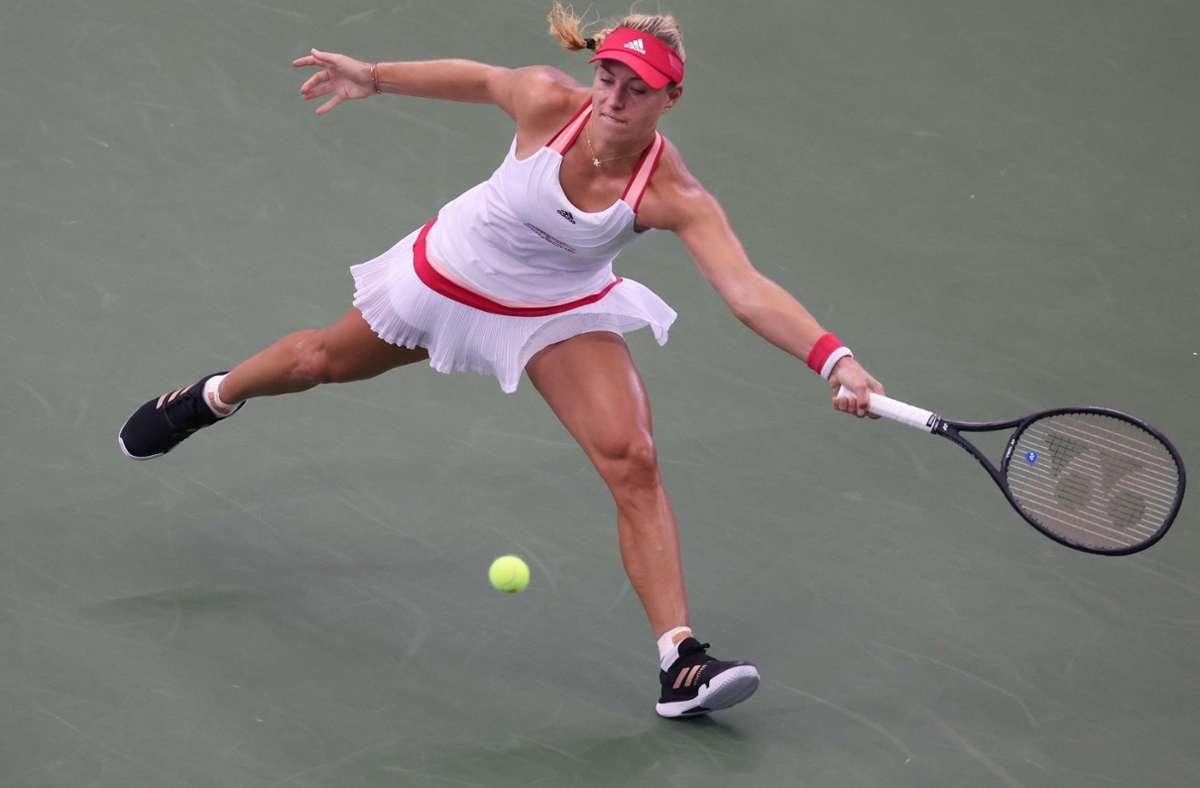 Angelique Kerber steht im Achtelfinale der US-Open. Foto: AFP/AL BELLO
