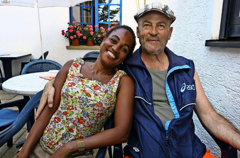 Angèle Jaotombo hat endlich ein Visum bekommen und lebt nun bei ihrem Mann Michael Wöhrle in Steinenbronn., Foto: Malte Klein