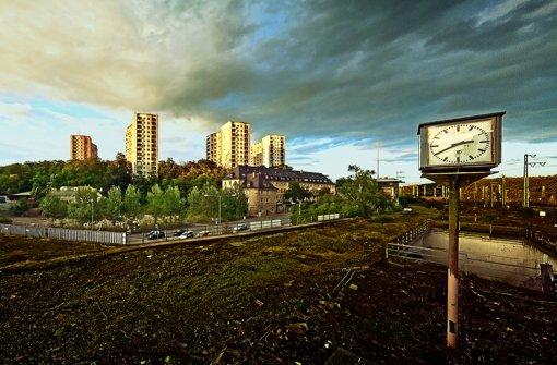 Die Eisenbahnerhochhäuser, gebaut von Helmuth Conradi Mitte der 50er Jahre Foto: Josh von Staudach