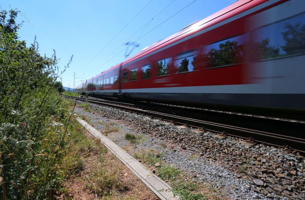Gegen Mitternacht soll es zum Streit zwischen zwei Männern in einem Regionalzug gekommen sein (Symbolbild). Foto: dpa/Karl-Josef Hildenbrand