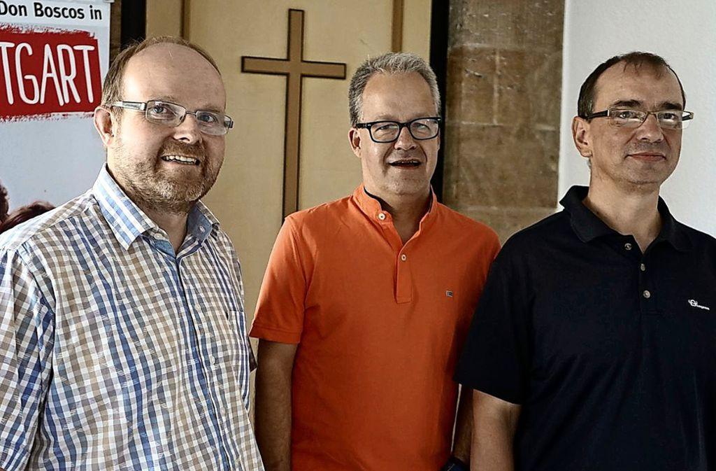 Bruder Matthias, Pater Jörg und Pater Clemens  (von links). Foto: Don Bosco Stuttgart (z)