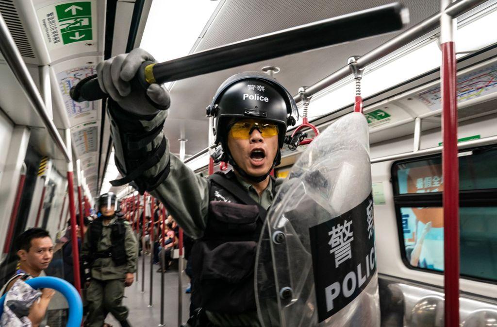 In Hongkong geht die Polizei bisweilen brutal gegen Demonstranten vor. Foto: Getty Images