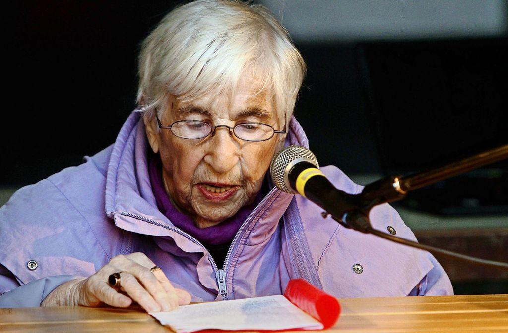Esther Bejarano ist 94 Jahre alt – und macht Hip-Hop. Foto: factum/Bach
