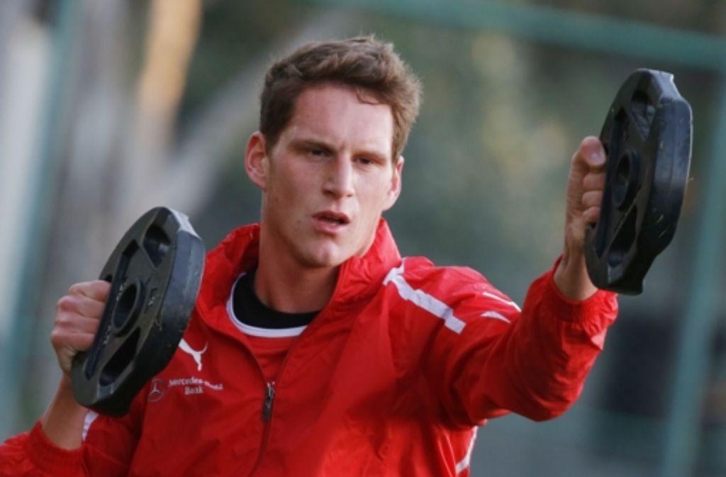 Benedikt Röcker, der in Belek einen Vertrag bis 2015 unterschrieben hat, ist ein Fußballprofi auf dem zweiten Bildungsweg. Mehr Bilder aus Belek sehen Sie in der Fotostrecke. Foto: Pressefoto Baumann