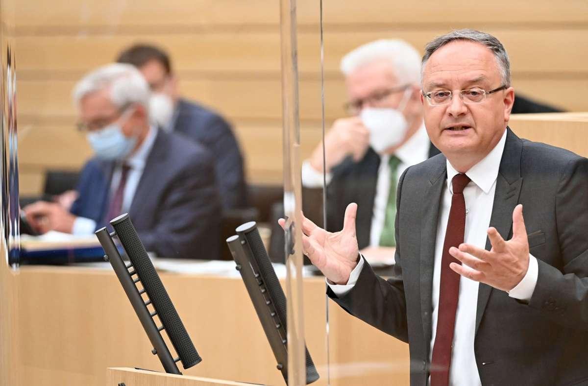 SPD-Landeschef Andreas Stoch (Archivbild) Foto: dpa/Bernd Weissbrod