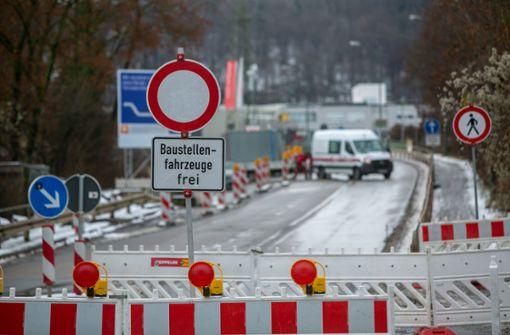 Schleyerbrücke ist gesperrt