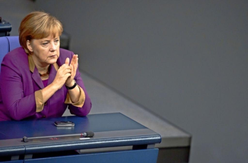 Angela Merkel ist das Pfund, mit dem die CDU noch wuchern kann. Foto: dapd