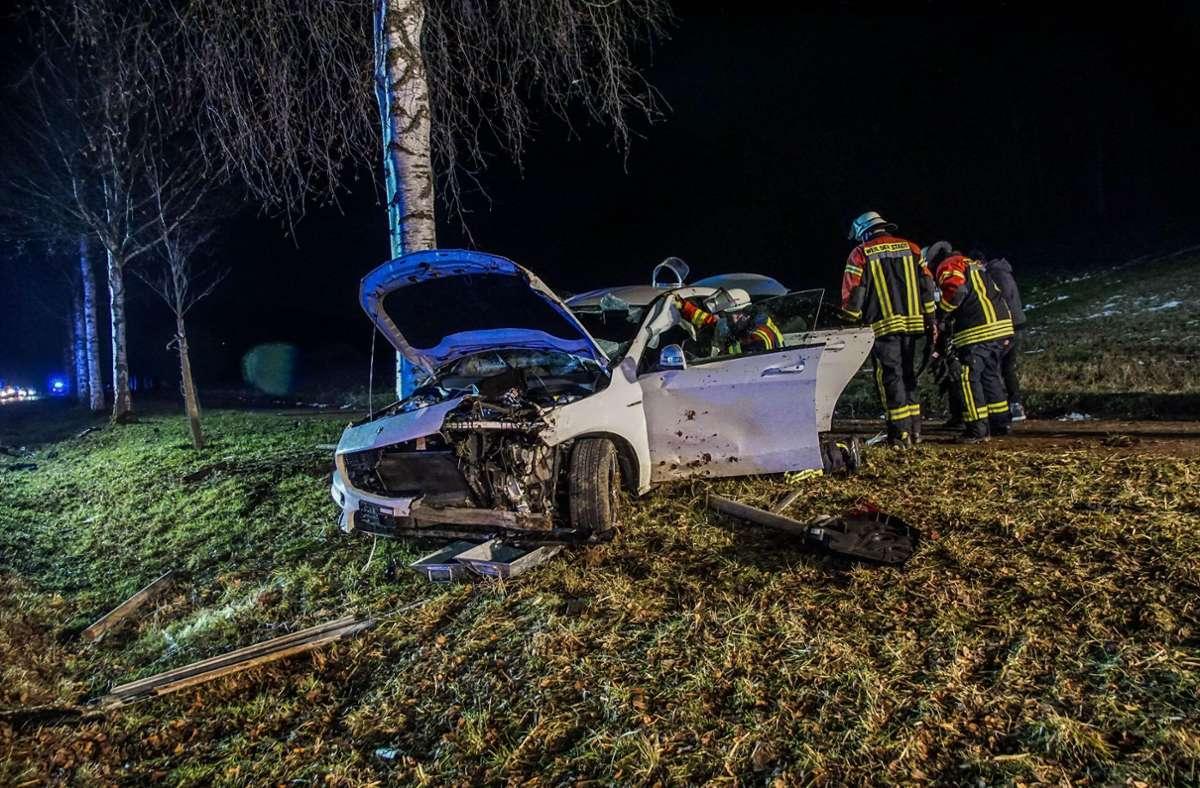 Am Dienstagabend ereignete sich auf der L1182 ein Autounfall. Foto: SDMG/Dettenmeyer