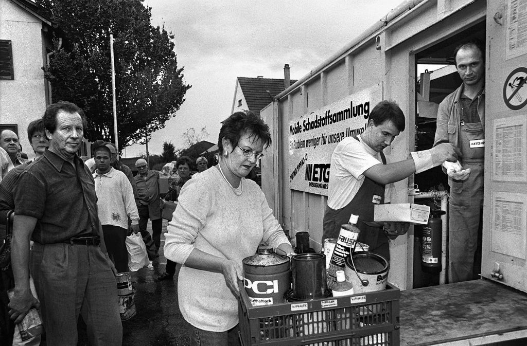Belasteter Müll wird schon lange gesammelt. Hier ein Foto aus dem Jahr 1999. Foto: Horst Rudel/Archiv