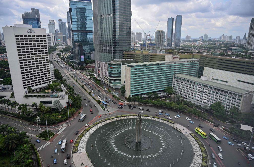 Überfüllt und staubelastet: die Hauptstadt Jakarta Foto: AFP