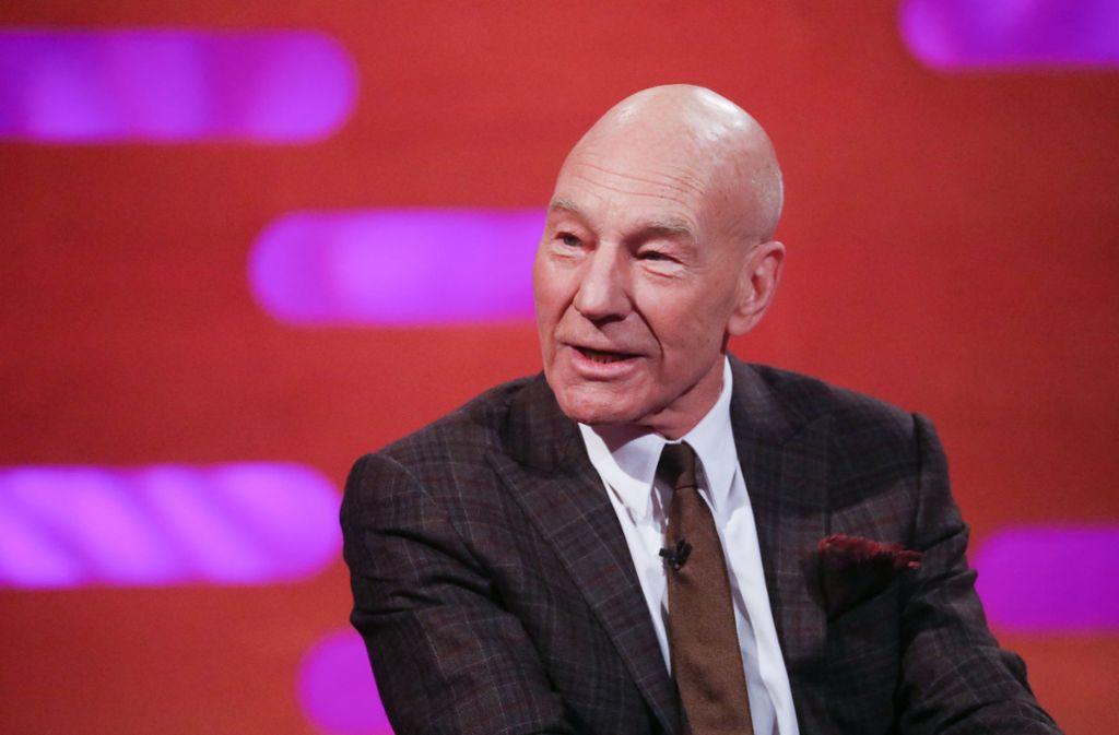 Patrick Stewart, hier während einer Fernsehsendung Foto: dpa
