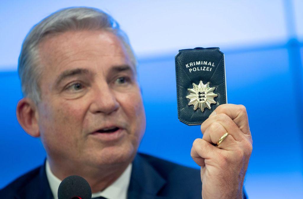 Innenminister Thomas Strobl (CDU) zeigte sich optimistisch. Foto: dpa/Marijan Murat