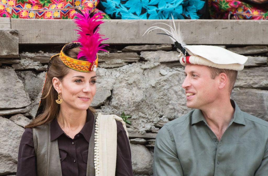 Fünf Tage verbringen Herzogin Kate und Prinz William in Pakistan. Foto: Samir Hussein/PA Wire/dpa/Samir Hussein