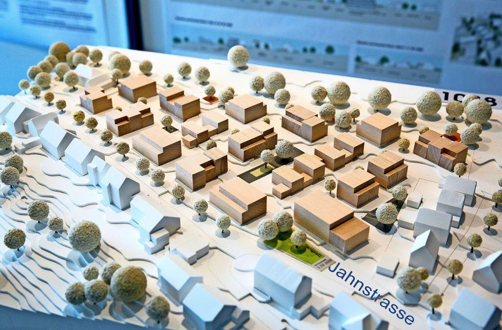 """Dieser Entwurf hatte den städtebaulichen Ideenwettbewerb für das Gebiet """"Ob der Halde"""" gewonnen. Foto: /Horst Rudel/Archiv"""