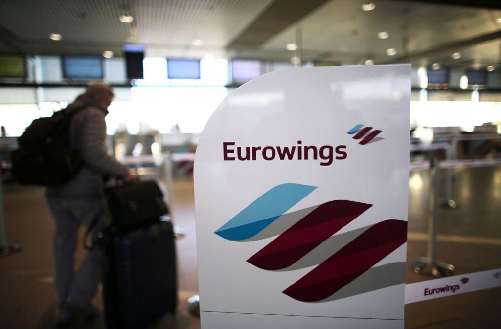 Am Donnerstag müssen Passagiere von Eurowings mit Streiks rechnen. Foto: dpa