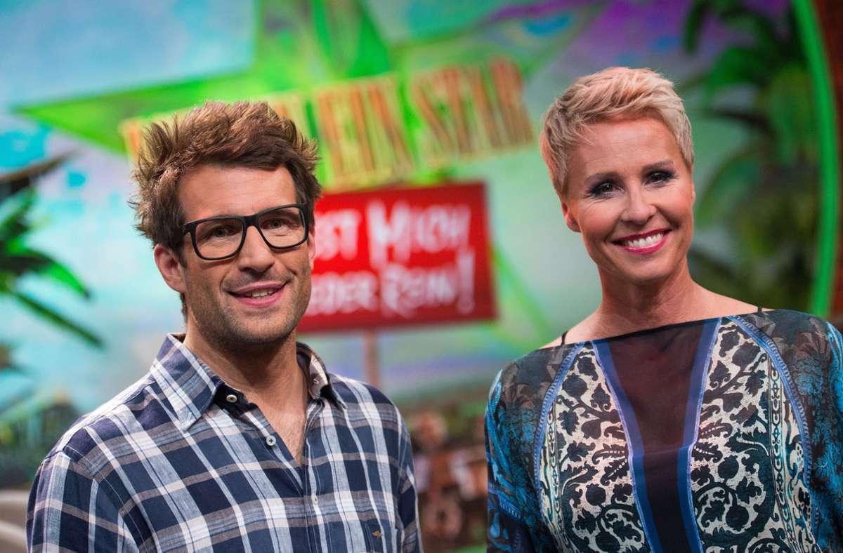 """Moderatoren Sonja Zietlow und Daniel Hartwich führen durch die """"Dschungelshow"""". Foto: dpa/Marius Becker"""