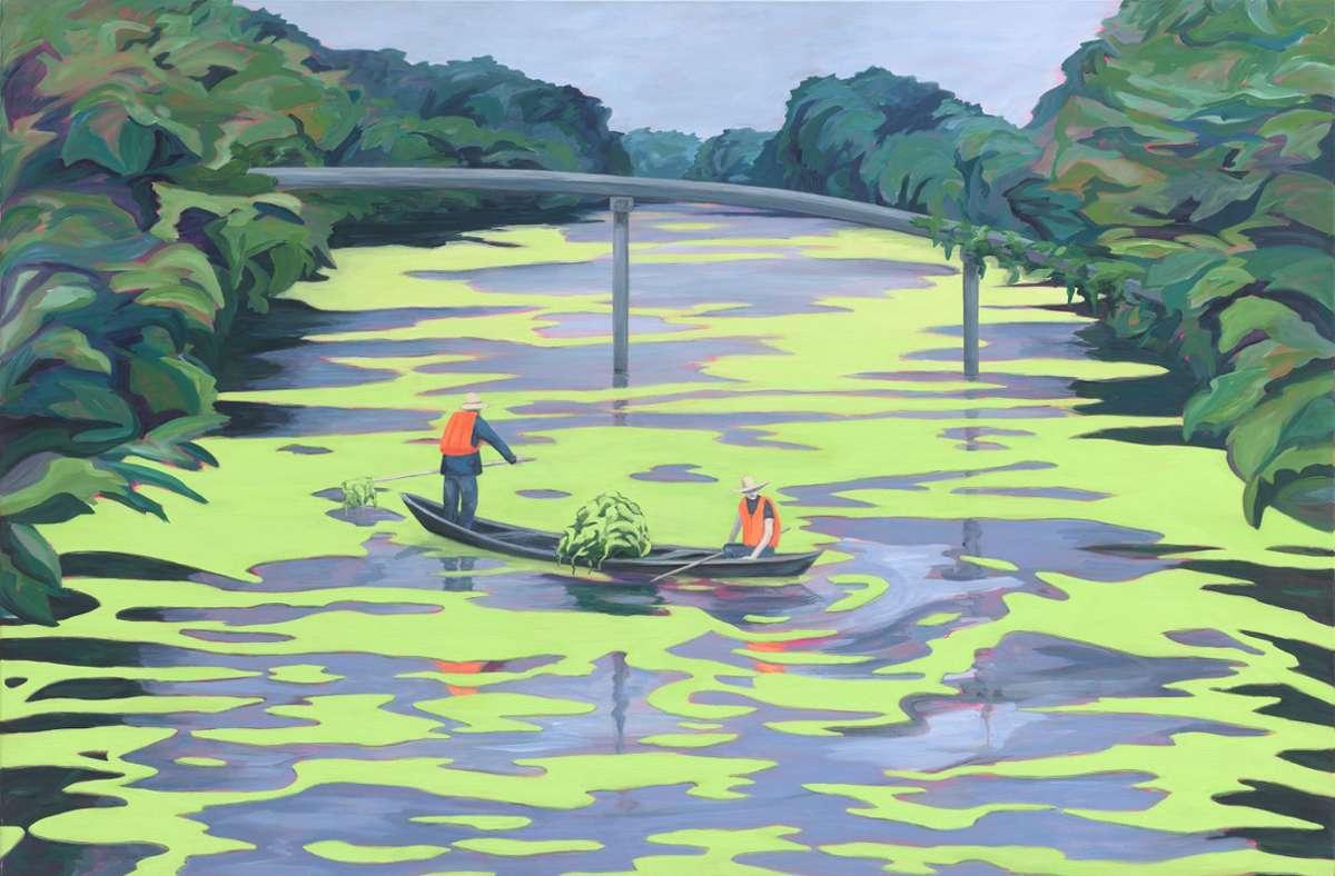 Seen- und Flußlandschaften haben es der  Künstlerin Sylvia Seelmann angetan, deren Arbeiten derzeit in der Galerie Z ausgestellt sind. Foto: Galerie Z/Sylvia Seelmann