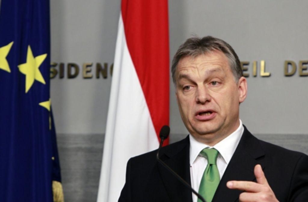 Premier Viktor Orbán  hat die Rechte des Verfassungsgerichts stutzen lassen. Foto: AP
